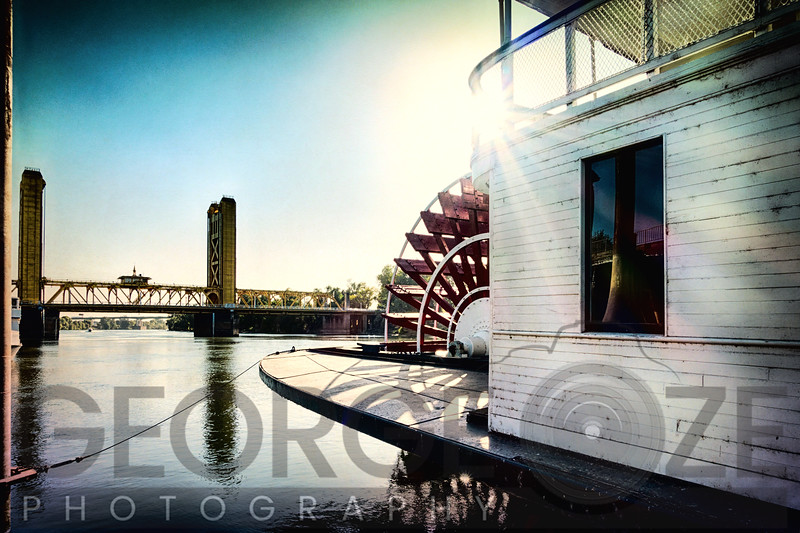 Steamboat Sternwheel and The Tower Bridge of Sacramento