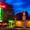 Neon Lights of a Roadside Motel, El Bonita, St Helena, Napa Valley, California