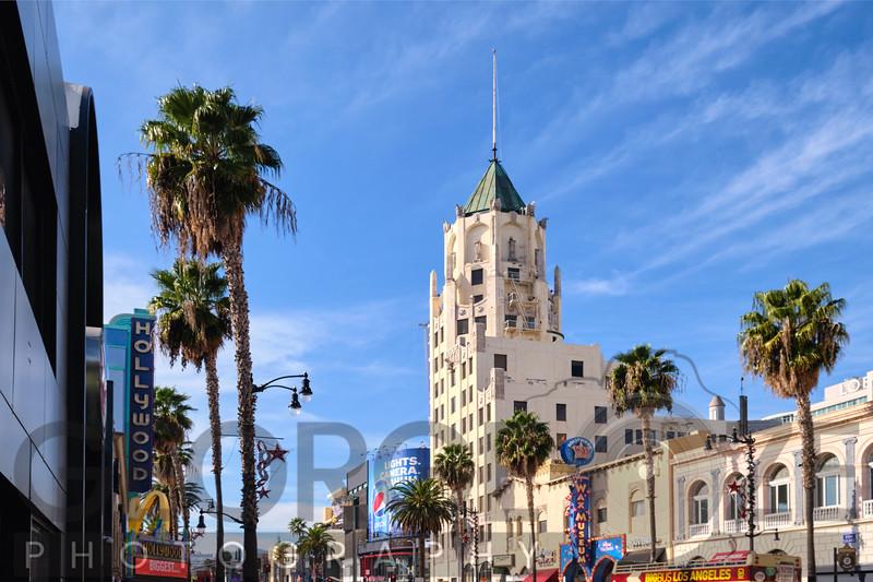 Hollywood Boulevard View, Los Angeles California