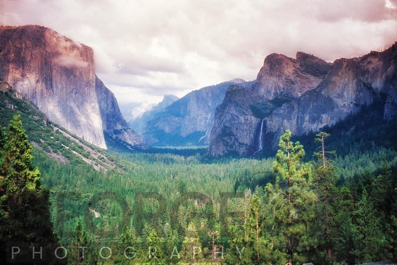 Yosemite Valley Scenic from Tunnel View, California
