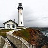 Lighthouse  with Keeper's House, Pigeon Point, San Mateo County, California