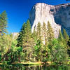 Low Angle View of the El Capitan, Yosemite National Park, California