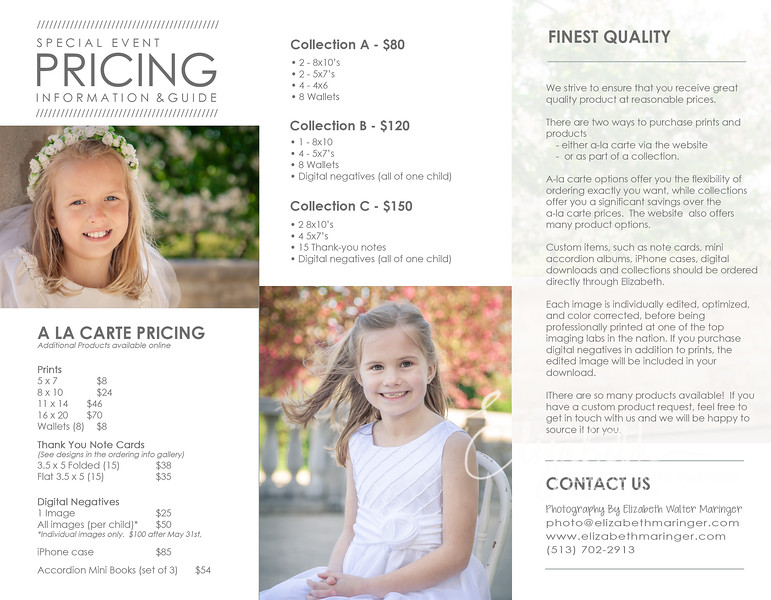 Pricing & Info Guide 2015