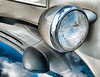 Antique Car Headlight And Reflections
