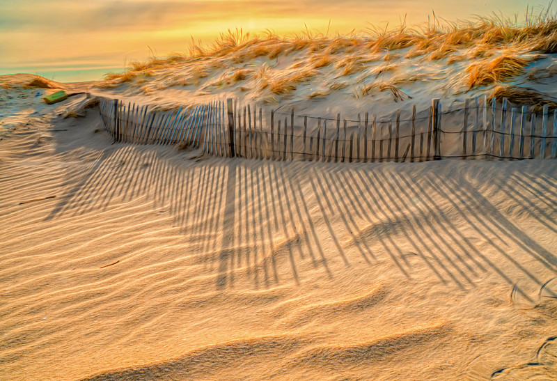 Early Morning Shadows On The Sand Dune