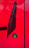 Red Black And Shapes On Hot Rod Hood