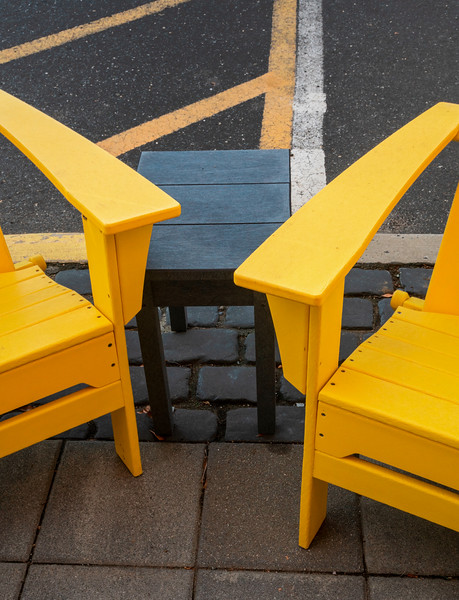 Yellow Meets Yellow At Curbside