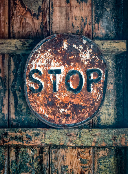 Abandoned STOP Sign Abstract
