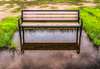 Empty Bench In Flood Zone