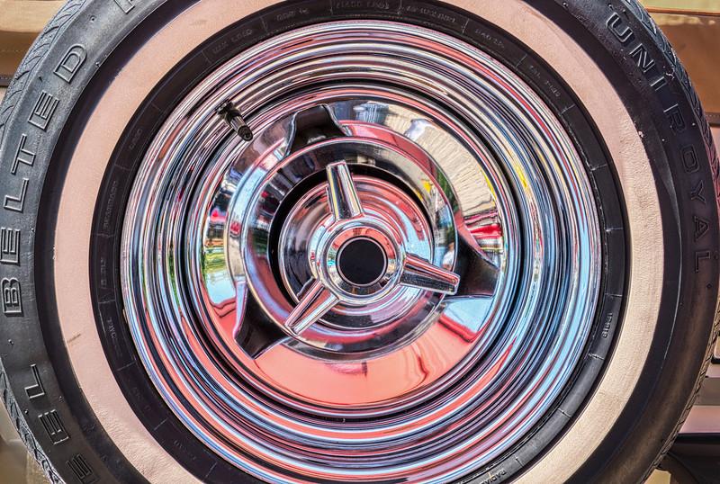 Vintage Automobile Wheel Abstract