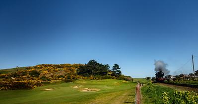 """Sheringham Golf Club 17th Hole """"Steam Train"""""""