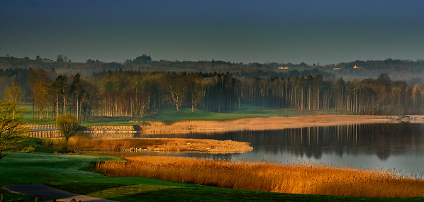 Lough Erne 1st Hole from the clubhouse