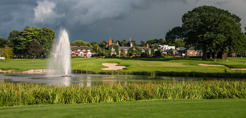 The Belfry Brabazon Course 18th Hole and Clubhouse