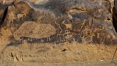 Bison Petroglyph, Nine Mile Canyon, Utah