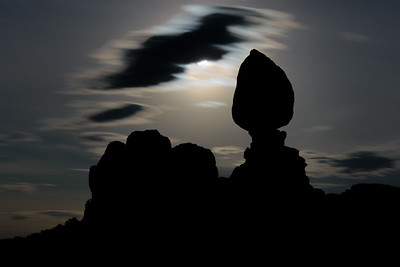 Moon Over Balanced Rock, Arches National Park