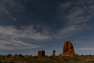 Arches National Park with Orion at Night