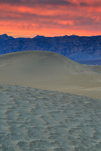 Fiery Sky over Sand Dunes