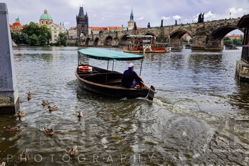 Small Boat on the Vltava River, Prague