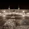 Low Angle View of the Plaza Mayor at Night, Madrid, Spain