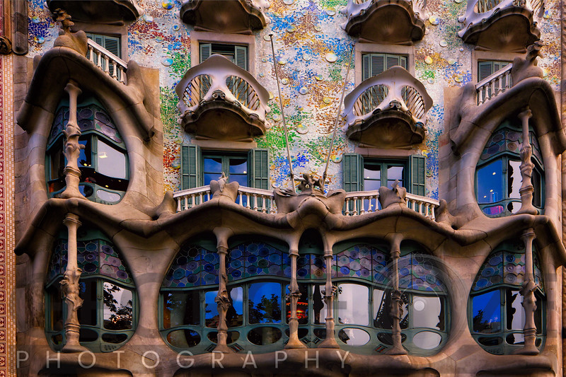 Facade of Casa Batllo, Barcelona, Catalonia, Spain