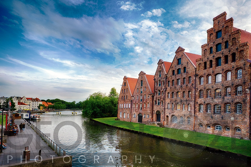 Warehouses of Old Town Lubeck along a Canal, Germany