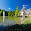 View of the Crystal Palace in the Buen Retiro Park, Madrid Spain