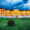 Schonbrunn Palace Lit Up at Night with a Water Fountain