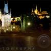 Cahrles Bridge and The Prague Castle Illuminated at Night