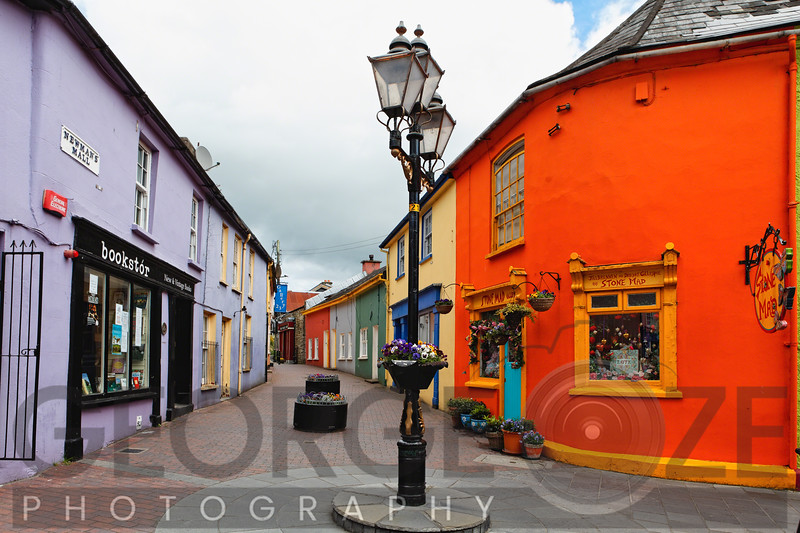 Colorful Street in Kinsale, County Cork, Ireland