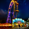 The Giant Ferris Wheel of Vienna at Night