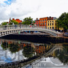 Halfpenny Bridge Over the Liffy River, Dublin, Republic of Ireland