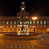 Night View of the Old Post Office , now Government Building, Plaza Puerta del Sol, Madrid, Spain