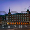 Night Panorama of Plaza Mayor, Madrid, Spain
