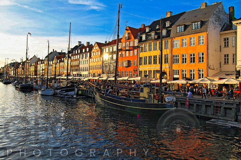 Colourful House Facades Along Nyhavn