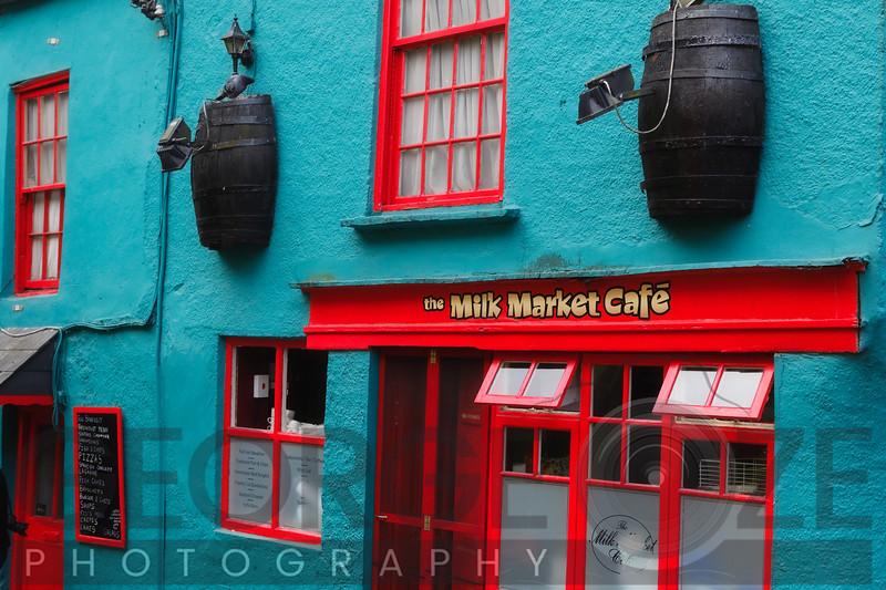 Facade of the Mil Market Cafe, Kinsale, County Cork, Republic of Ireland