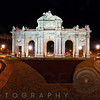 Alcala Gate ( Puerta de Alcalá) at Night, Independence Square, Madrid, Spain