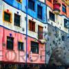 Colorful Impressionistic Architecture of the Hundertwasser House, Vienna, Austria.