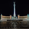Heroes' Square  at night, Budapest Hungary