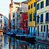 Colorful Houses Along a Canal Santa Croce, Venice Veneto, Italy
