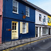 Quaint Narrow Street in Kinsale, County Cork, Republic of Ireland