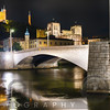 Bonaparte Bridge At Night, Lyon, France