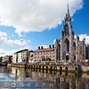 View of the Holy Trinity Church on the River Lee, Cork, County Cork, Republic of Ireland