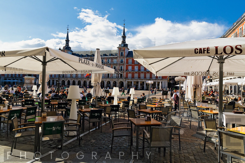 Outdoor Cafe on Plaza Mayor, Madrid, Spain