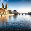 The Grossmünster Church on the Limmat River, Zurich, Canton Zurich, Switzerland