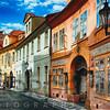 Quaint Cobblestone Misenska Street in Prague