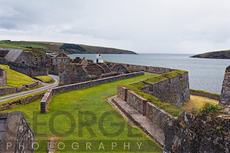 High Angle View of Fort Charles in Kinsale Harbor, County Cork, Ireland