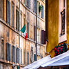 Narrow Street in  Rome During The Christmas Holiday