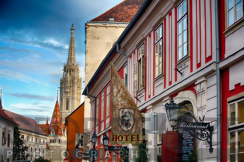 Castle Hill Street Scene, Budapest Hungary