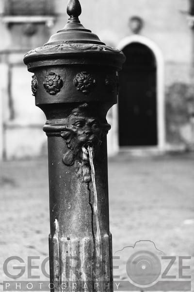 Close Up View of a Venetian Water Fountain, Venice Italy