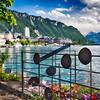 Montraux Shoreline Scenic View, :ake Geneva, Switzerland